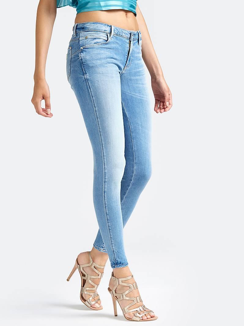 JEAN SKINNY CURVE X Bleu Ciel Guess Jeans Femme Guess