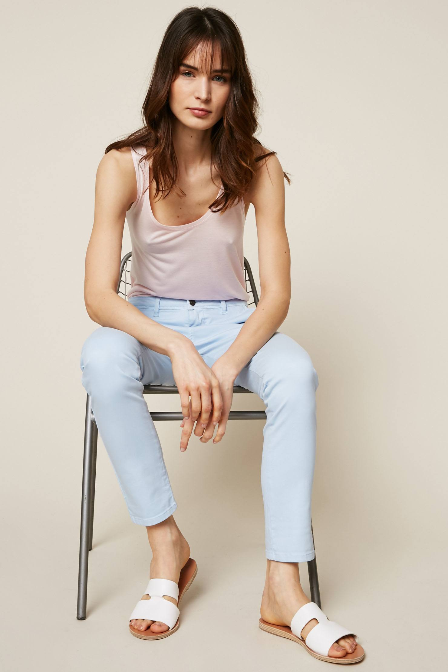 School Rag Cloee Jean slim bleu clair - Monshowroom