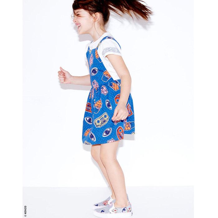 Robe 2 en 1 Kenzo Kids Blanc et Bleu marine pour Fille