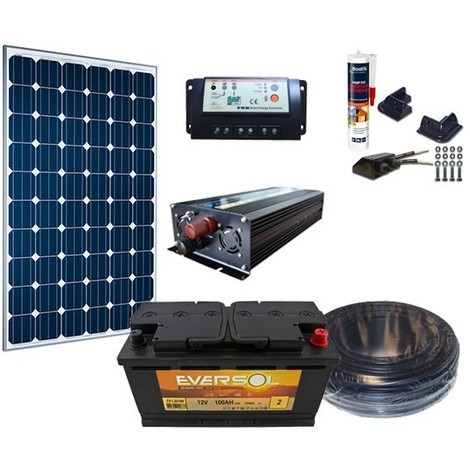 Kit Complet Solaire 12V 80W / 343Wh - ManoMano