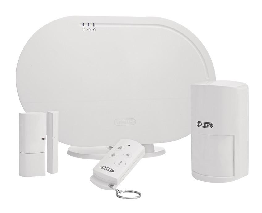 Kit de base Système d'alarme sans fil et application Smartvest ABUS FUAA35000A - ManoMano
