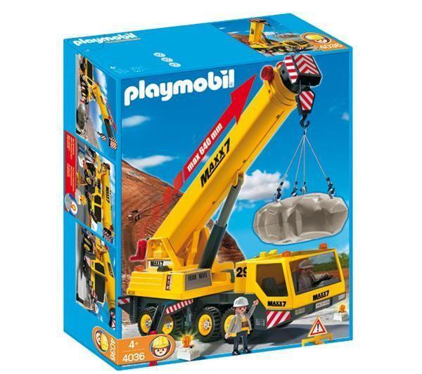 Jouets carrefour pas cher grue mobile g ante playmobil - Caserne pompier playmobil pas cher ...