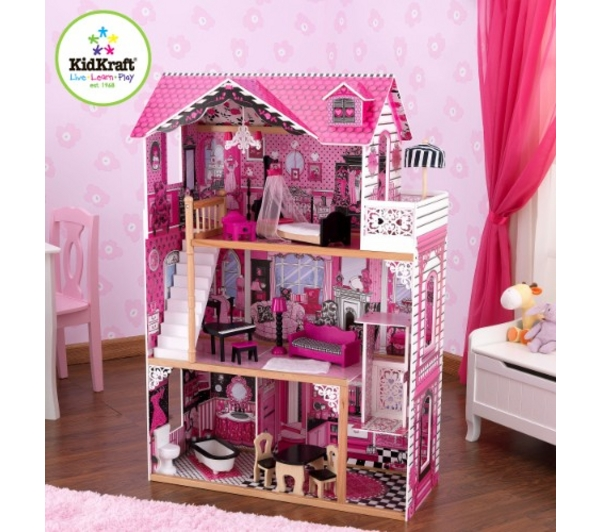 kidkraft 65093 maison de poupee amelia jouets fille pas. Black Bedroom Furniture Sets. Home Design Ideas