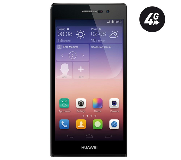 huawei ascend p7 16 go 4g noir smartphone pas cher pixmania ventes pas. Black Bedroom Furniture Sets. Home Design Ideas