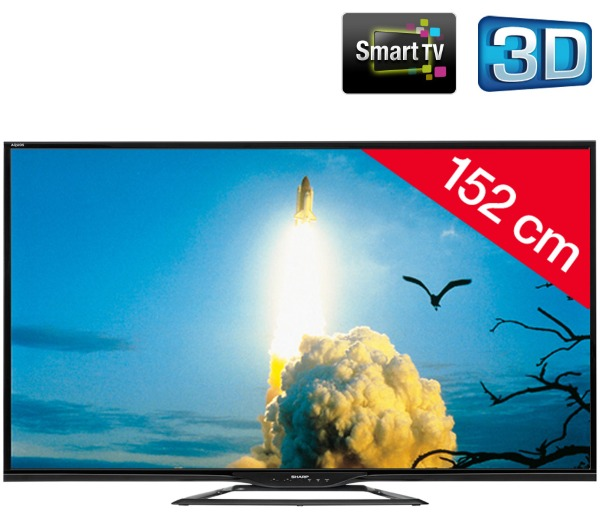 sharp aquos lc 60le651emk2 tv led 3d pas cher pixmania ventes pas. Black Bedroom Furniture Sets. Home Design Ideas