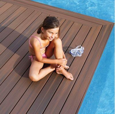 Lame de terrasse composite brun Xtrem L.244 x l.12,7 cm - Castorama