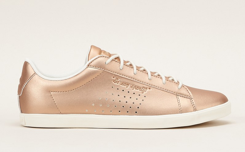 Le Coq Sportif Sneakers couleur bronze à lacet - Monshowroom