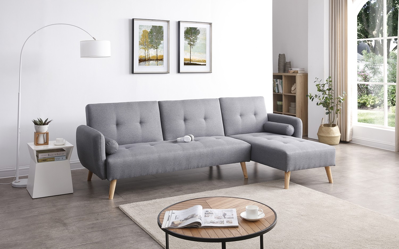Leskä Canapé scandinave convertible gris - Concept Usine