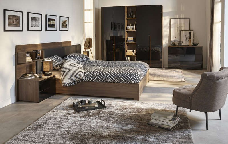lit adulte 140x190 cm pablo lit conforama pas cher. Black Bedroom Furniture Sets. Home Design Ideas