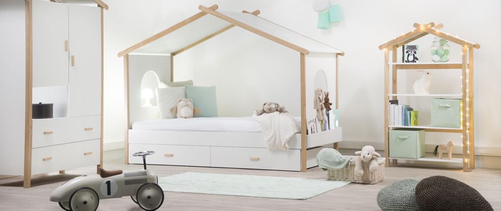 lit cabane enfant design birdy lit enfant miliboo ventes pas. Black Bedroom Furniture Sets. Home Design Ideas