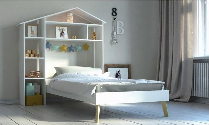 Lit Enfant HOME et tête de lit avec rangements