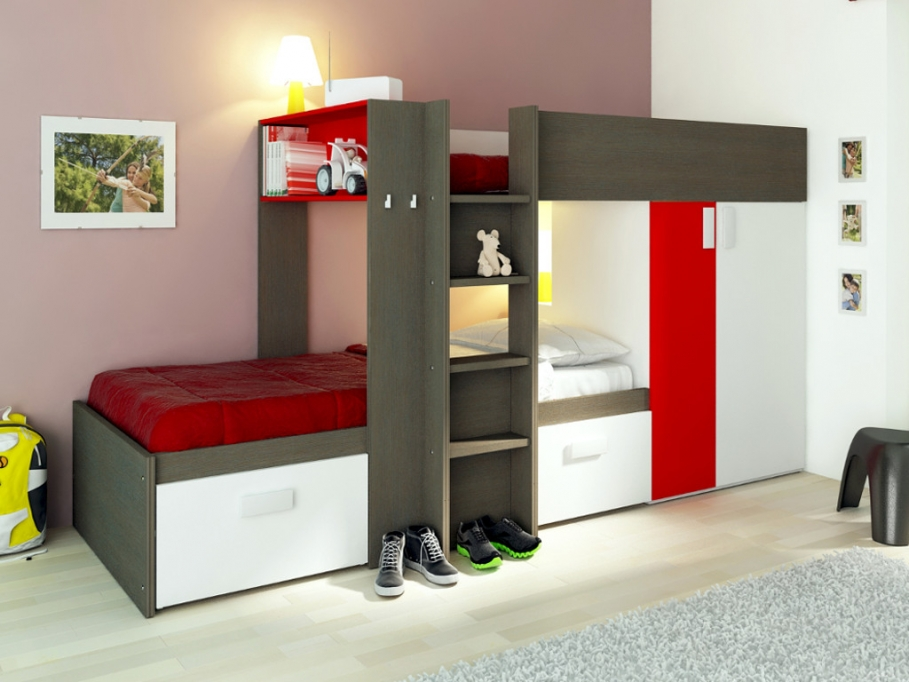 lits superpos s julien lit enfant vente unique ventes pas. Black Bedroom Furniture Sets. Home Design Ideas