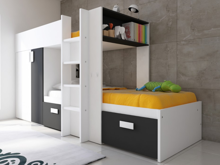 lits superpos s julien pas cher lit enfant vente unique. Black Bedroom Furniture Sets. Home Design Ideas