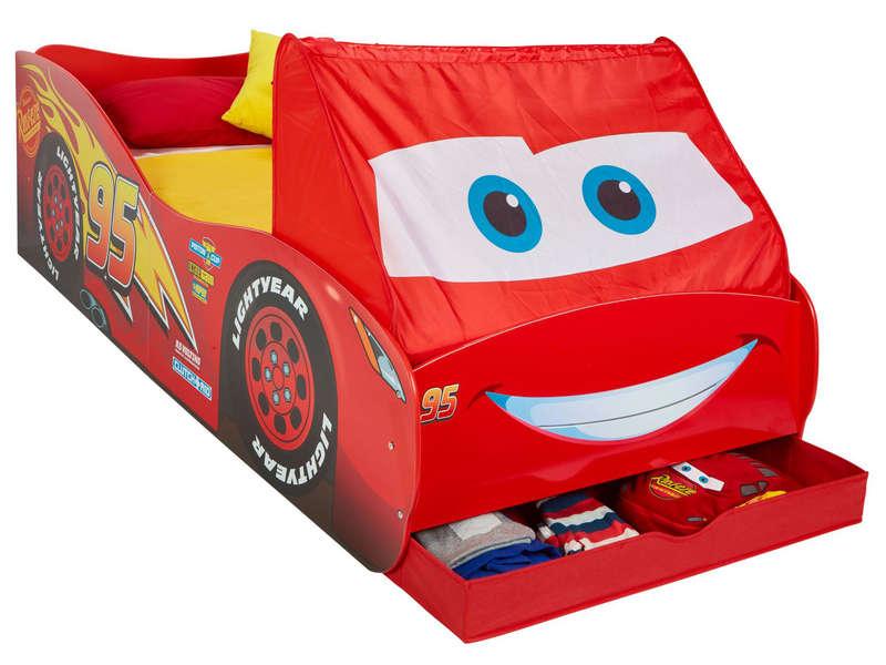 Lit Voiture Junior Avec Rangement Disney Cars Flash Mc Queen Pas Cher Lit Enfant Conforama Ventes Pas Cher Com