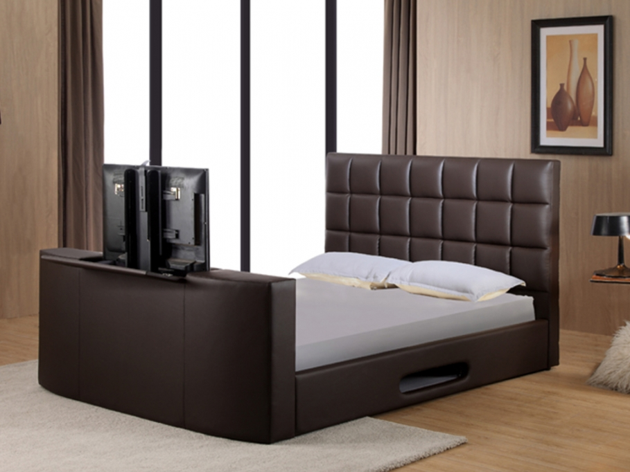 lit vente unique lit profusion avec syst me tv int gr. Black Bedroom Furniture Sets. Home Design Ideas