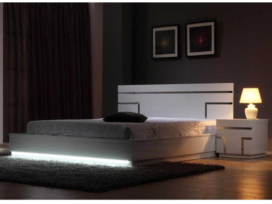 Pack chambre luminescence lit pas cher vente unique for Lit vente unique