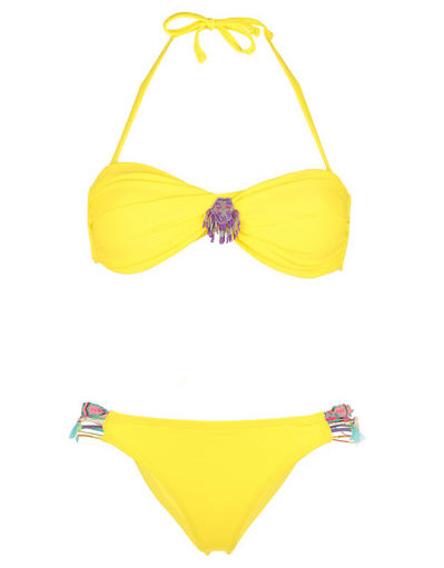 Maillot 2 pièces jaune Swim Hipanema for Amenapih
