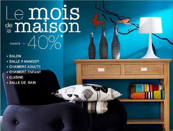 40 de r duction durant le mois de la maison avec la. Black Bedroom Furniture Sets. Home Design Ideas