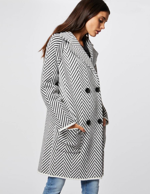 Manteau en maille effet peau lainée Morgan