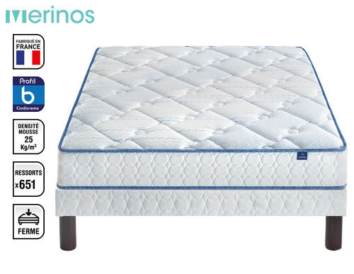 matelas ressorts 140x190 cm merinos reborn matelas conforama ventes pas. Black Bedroom Furniture Sets. Home Design Ideas