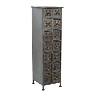 Colonne fulton 14 tiroirs hanjel meubles cerise sur la deco ventes pas - Cerise sur la deco ...