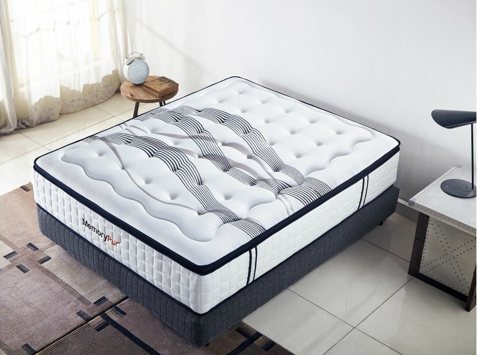 ensemble matelas et sommier memorypur ensemble diamant. Black Bedroom Furniture Sets. Home Design Ideas
