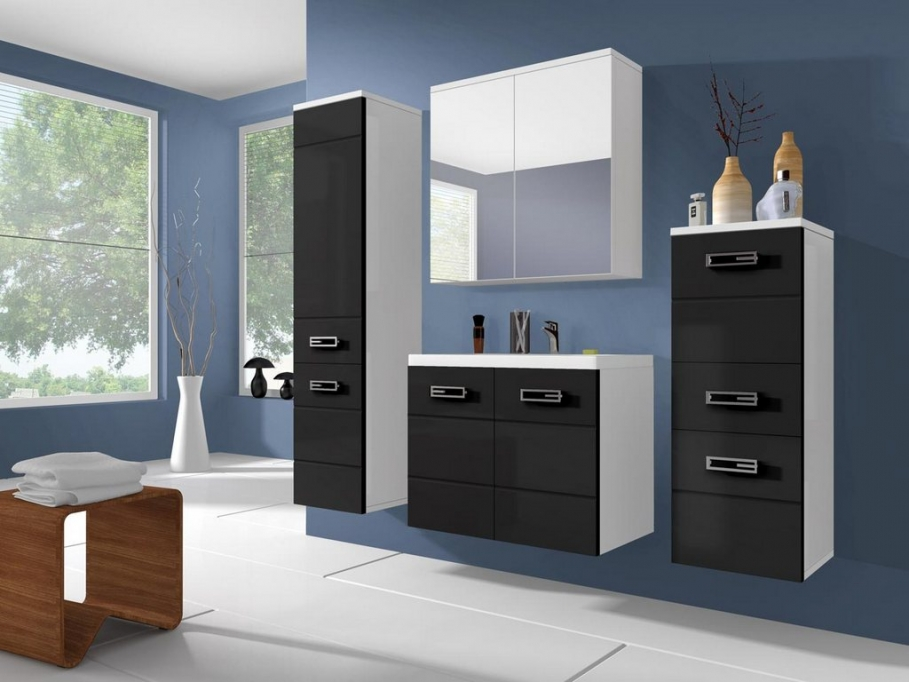 armoire salle de bain cdiscount. Black Bedroom Furniture Sets. Home Design Ideas