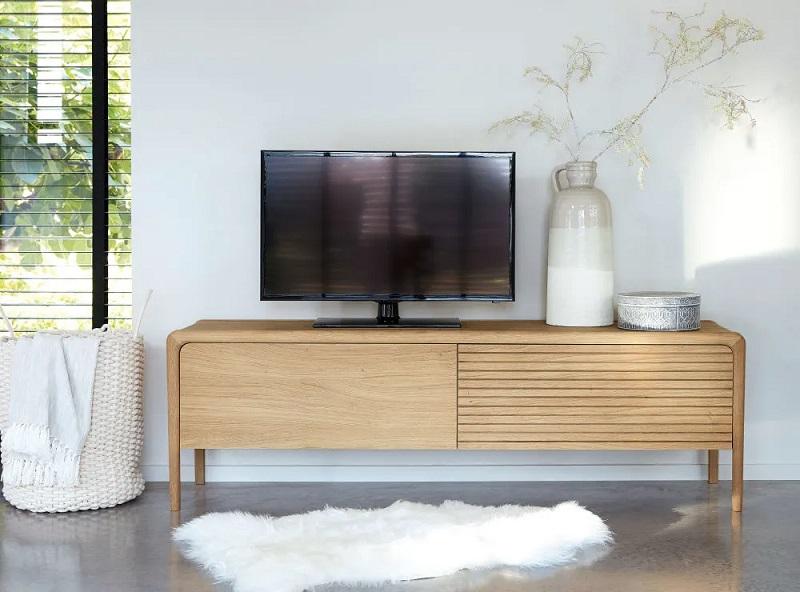 Meuble TV 2 portes Canopy en chêne massif - Maisons du Monde
