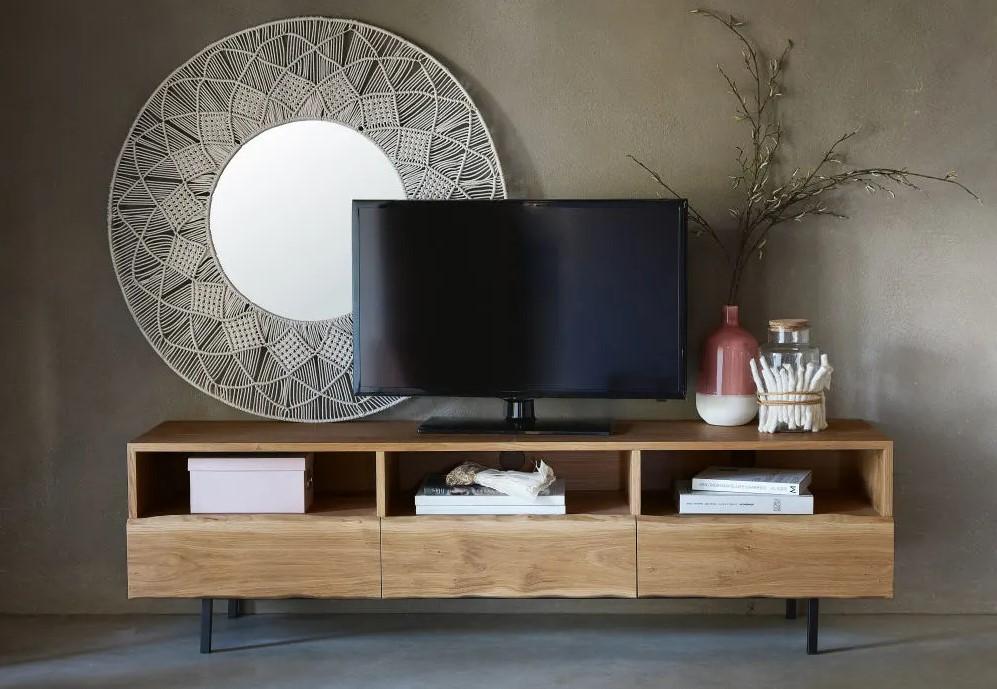 Meuble TV 3 tiroirs Magnus en chêne massif - Maisons du Monde