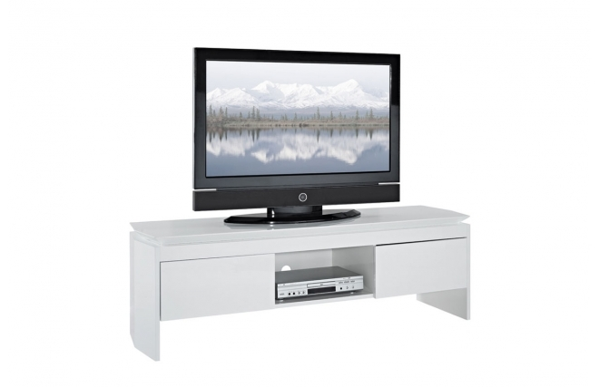 soldes meuble tv miliboo meuble tv design laqu blanc telio ventes pas. Black Bedroom Furniture Sets. Home Design Ideas