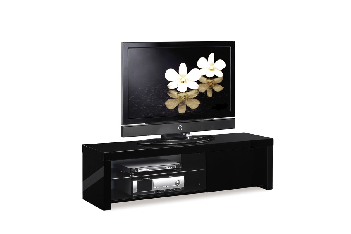 meubles tv miliboo pas cher meuble tv design laqu noir illio ventes pas. Black Bedroom Furniture Sets. Home Design Ideas