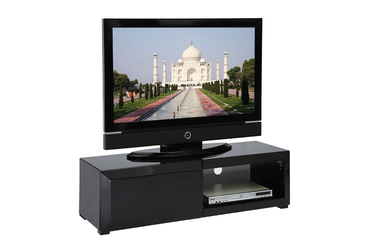 meuble tv miliboo meuble tv design laqu noir tia prix. Black Bedroom Furniture Sets. Home Design Ideas