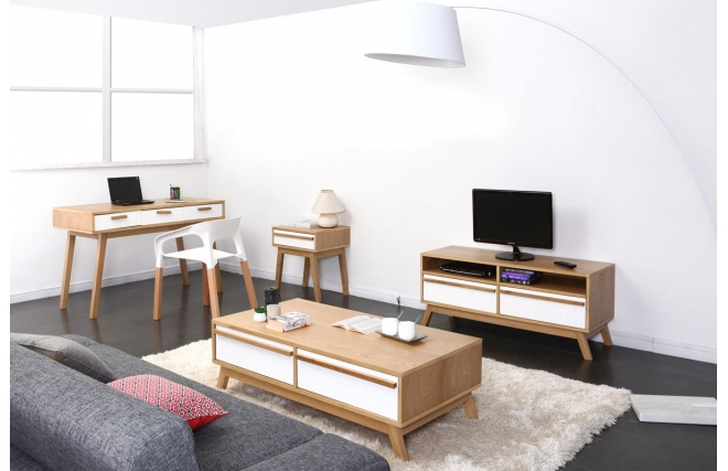 meuble tv design scandinave helia meuble tv pas cher miliboo ventes pas. Black Bedroom Furniture Sets. Home Design Ideas