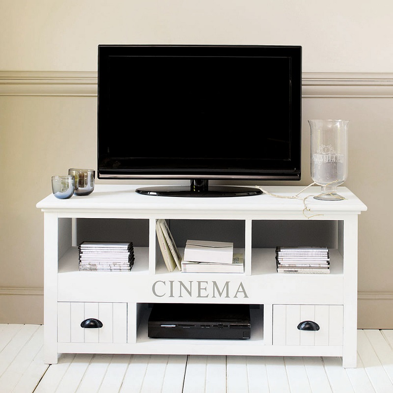 meuble tv en bois blanc newport meuble tv maisons du. Black Bedroom Furniture Sets. Home Design Ideas