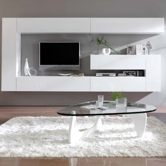 meuble tv mural design dublin atylia ventes pas. Black Bedroom Furniture Sets. Home Design Ideas