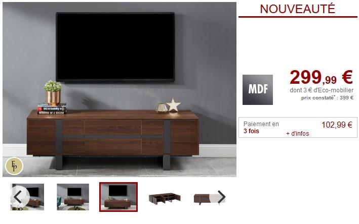 Meuble TV PETILLANTE pas cher - Meuble Tv Vente Unique