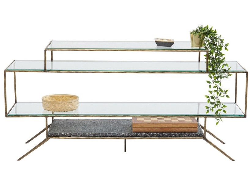 Meuble TV en verre Terrazzo Kare Design