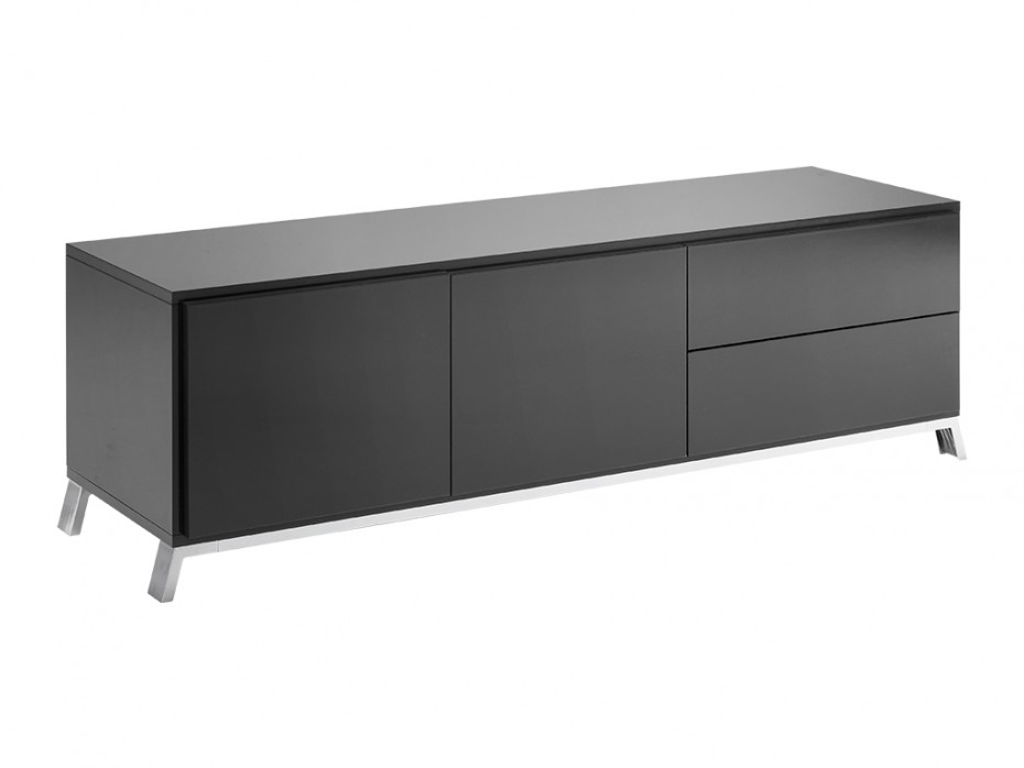 meuble tv murray gris anthracite pas cher meuble tv vente unique ventes pas. Black Bedroom Furniture Sets. Home Design Ideas