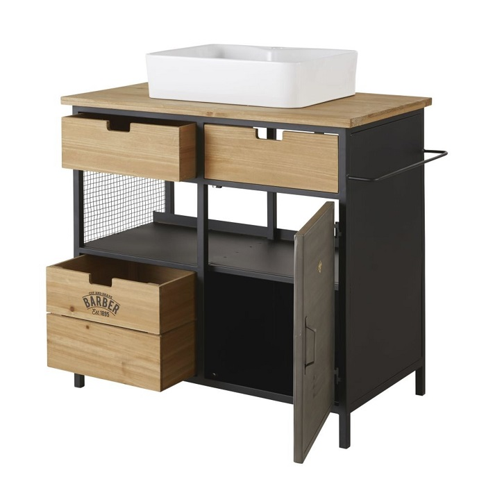 meuble vasque 3 tiroirs 1 porte harvey
