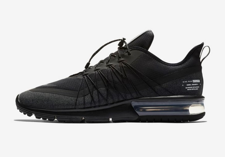 Nike Air Max Sequent 4 Shield Baskets Basses Noir/Blanc/Anthracite pour Homme