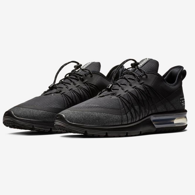 Nike Air Max Sequent 4 Shield Baskets Basses Noir/Blanc/Anthracite
