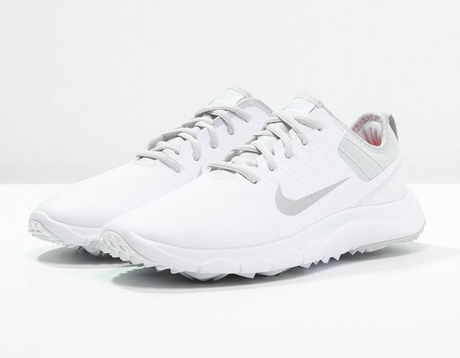 Nike Golf FI IMPACT 2 - Chaussures de golf - white/metallic silver/pure platinum/bright crimson