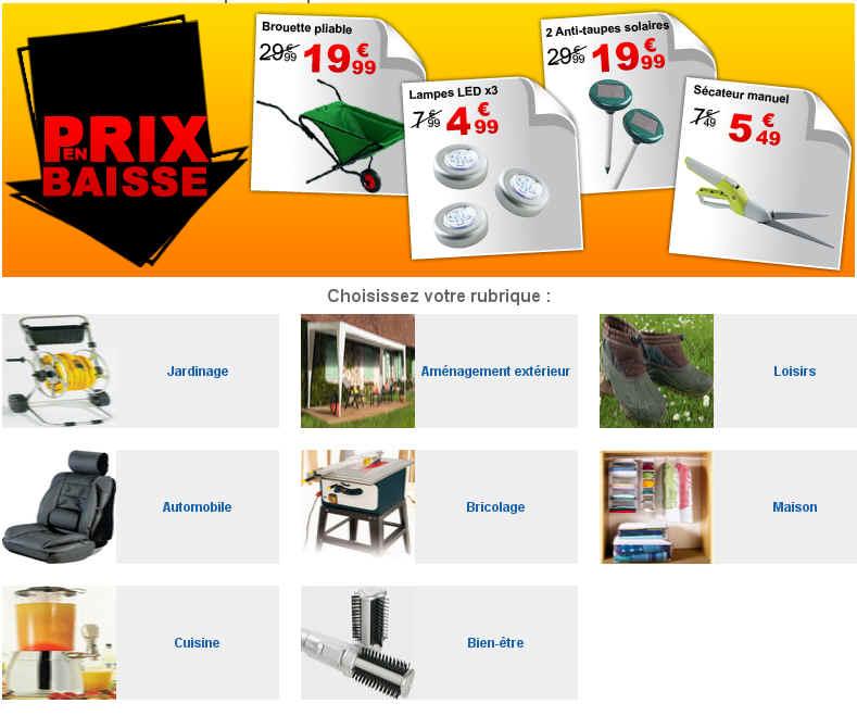 outiror offre promo prix en baisse bricolage jardinage. Black Bedroom Furniture Sets. Home Design Ideas