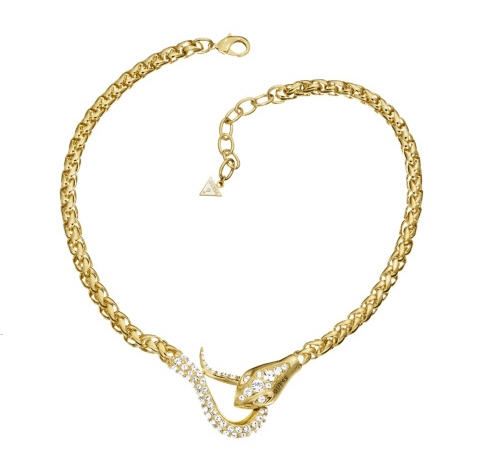 Original Sin Gold Plated Serpent Jeweled Necklace - Bracelet Guess