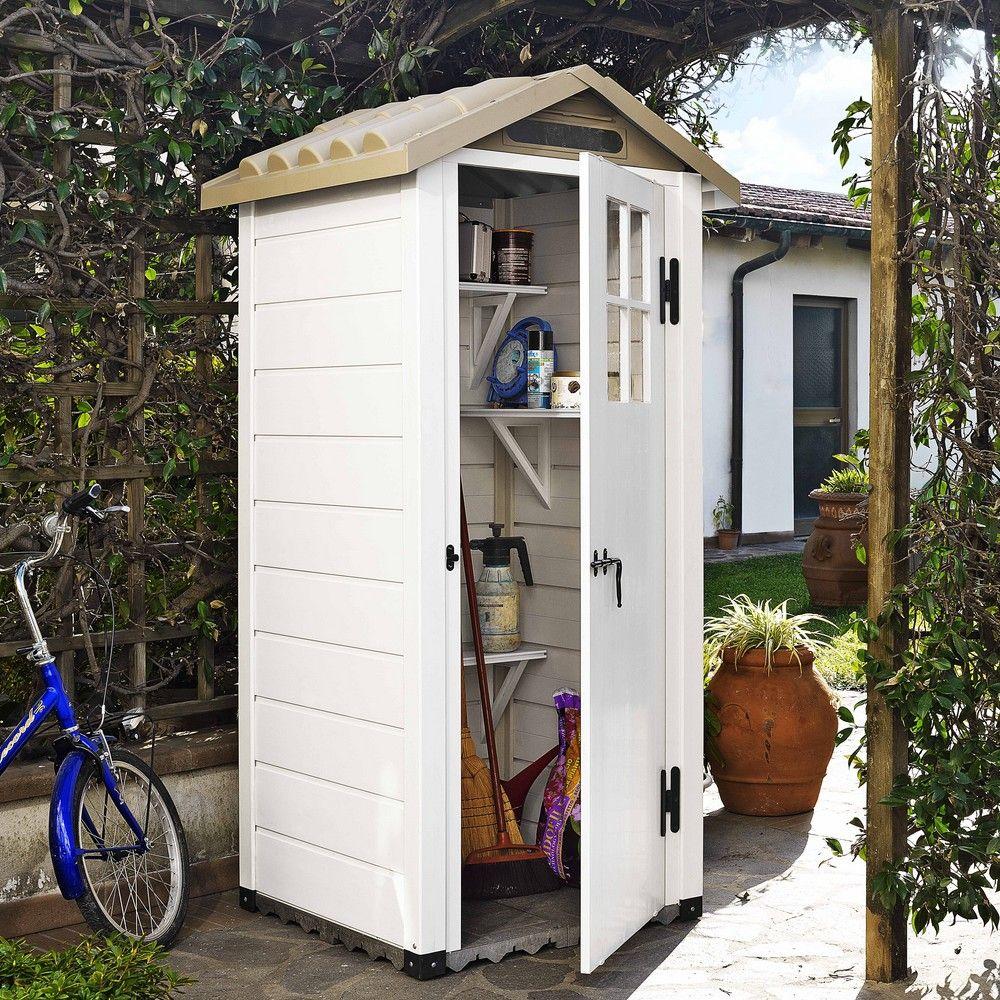 Abri de jardin résine PVC Evo 80 0,93 m² Ep. 22 mm