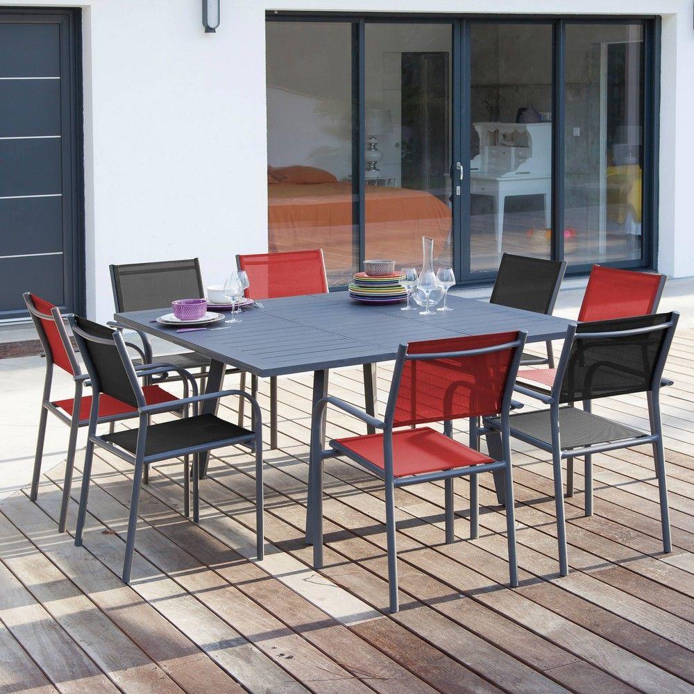 Table de jardin Barcelona aluminium gris