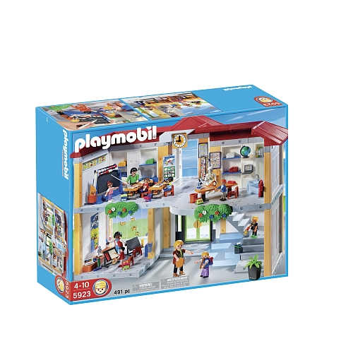 playmobil ecole avec 3 salles de classe 5923 jouets toys. Black Bedroom Furniture Sets. Home Design Ideas