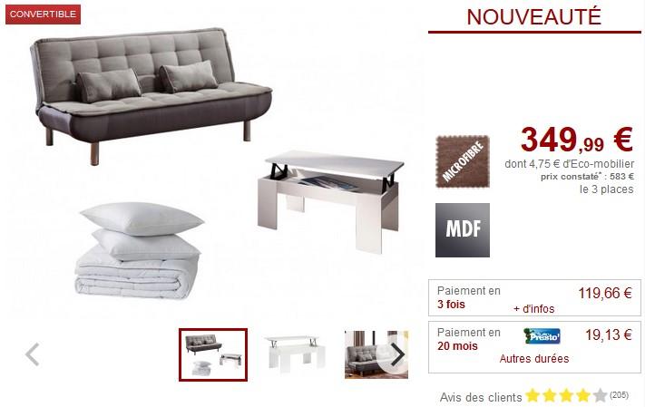Pack Studio 5 produits MISHAN pour meubler votre studio - Vente Unique