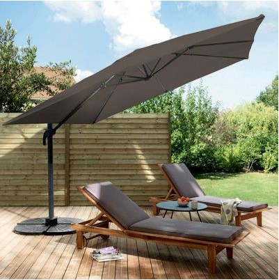 parasol d port blooma jaya taupe pas cher parasol castorama ventes pas. Black Bedroom Furniture Sets. Home Design Ideas