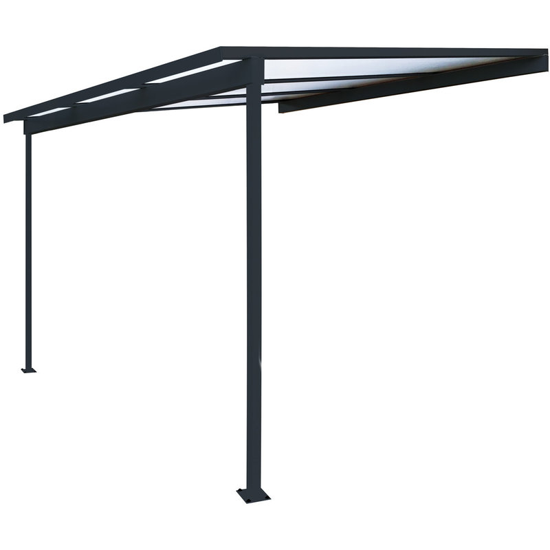 pergola en aluminium grise top prix pergola manomano ventes pas. Black Bedroom Furniture Sets. Home Design Ideas